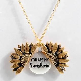Náhrdelník Sunflower-Zlatá