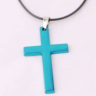Náhrdelník Cross-Modrá/Typ2