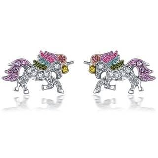 Náušnice Unicorn-Strieborná/Multi