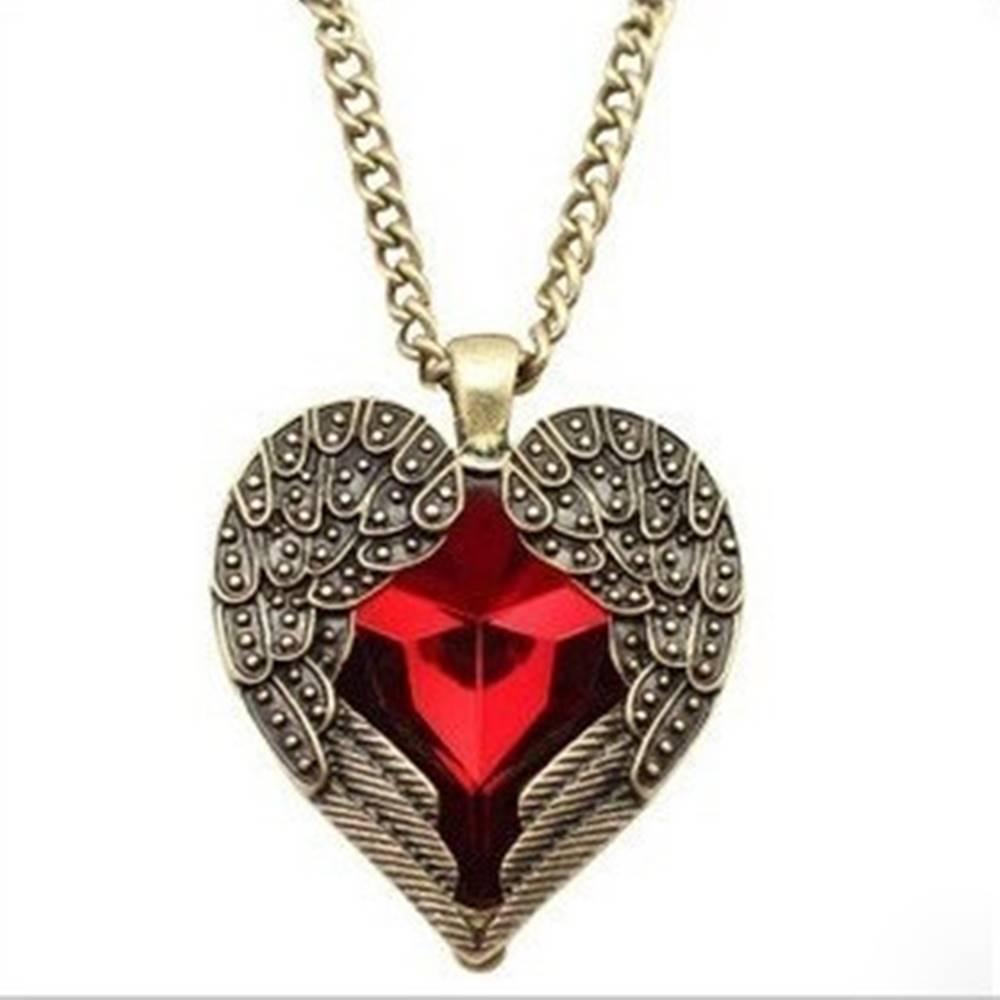 Izmael Náhrdelník Angel Heart-Červená