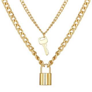 Náhrdelník Padlock-Zlatá/Typ2