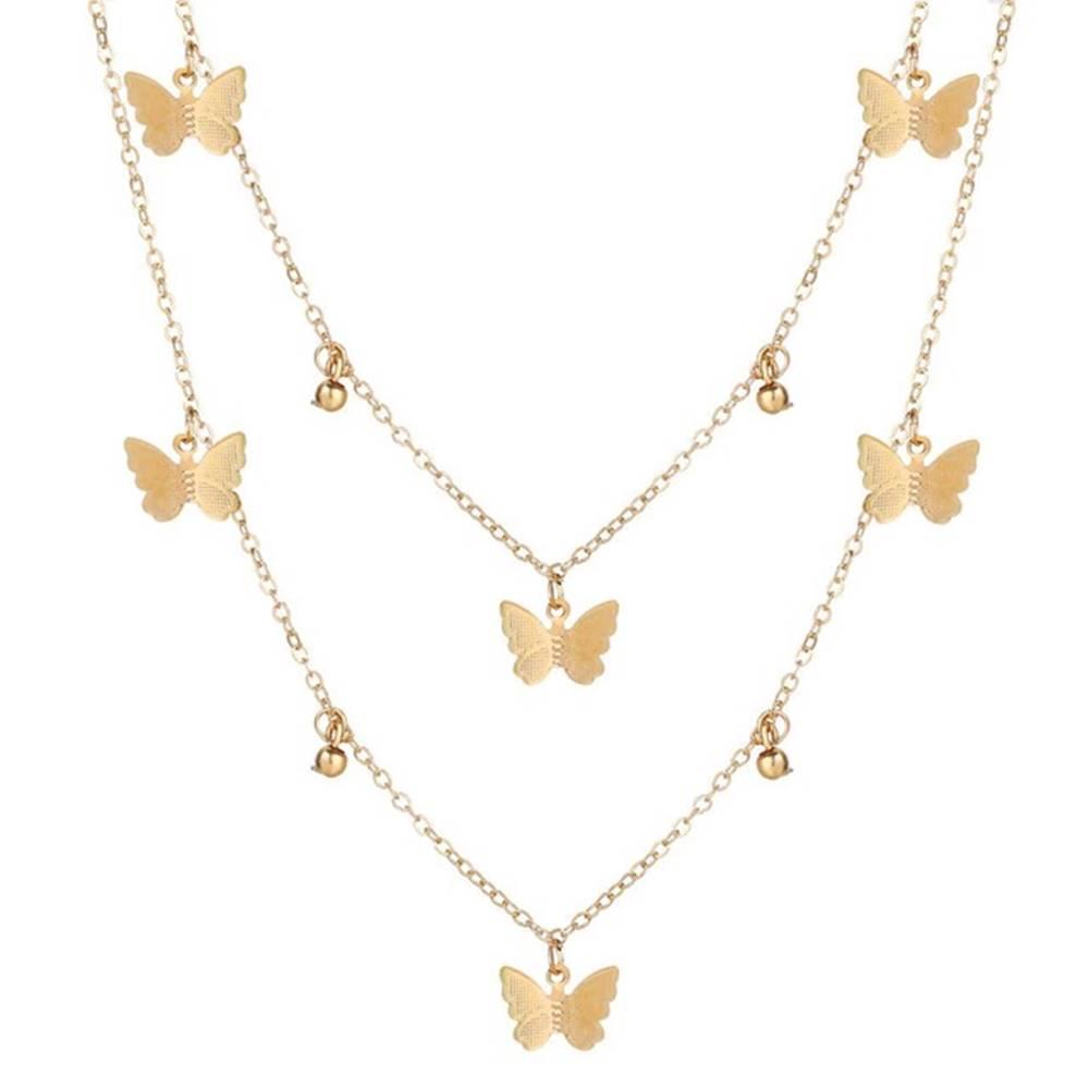 Izmael Náhrdelník Butterfly-Zlatá/Typ1