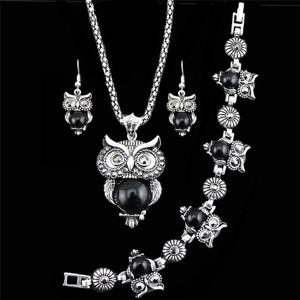 Izmael Set Antique Owl - Čierna