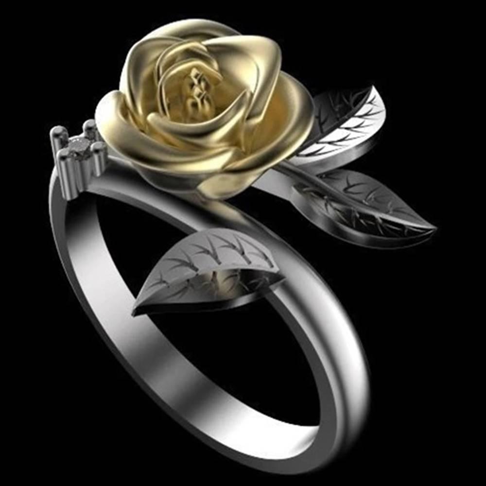 Izmael Prsteň Flower Rose-Strieborná/52mm