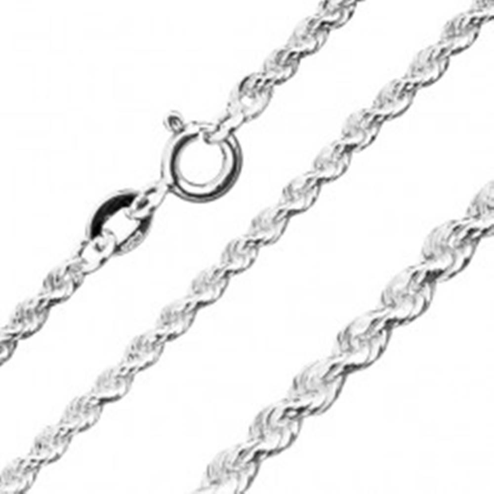 Šperky eshop Retiazka zo striebra 925, špirálovo spájané očká, šírka 1,8 mm, dĺžka 450 mm