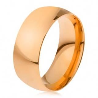 Obrúčka z ocele 316L zlatej farby, lesklý hladký povrch, 8 mm - Veľkosť: 56 mm