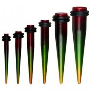 Farebný taper do ucha - rasta štýl - Hrúbka: 10 mm