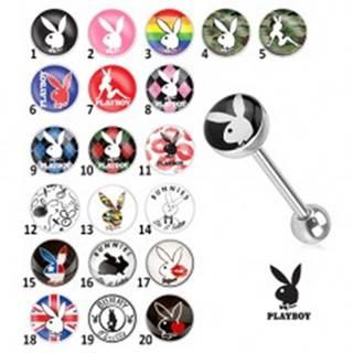 Oceľový piercing do jazyka - rôzne motívy Playboy - Symbol: PB04