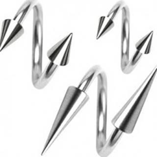 Piercing z chirurgickej ocele, špirálka s hrotom, 1,6 mm - Rozmer: 11 mm x 4x12 mm