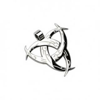 Prívesok z ocele 316L, čarodejnícky symbol, strieborná farba