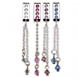 Šperk na plavky - visiaca retiazka so zirkónom - Farba zirkónu: Aqua modrá - Q