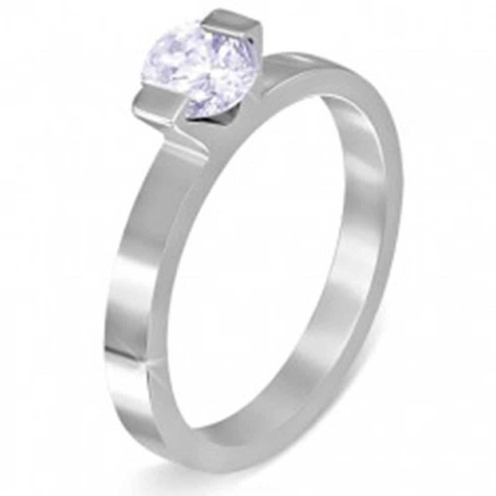 """Šperky eshop Prsteň z chirurgickej ocele - mesačný kameň """"Jún"""", dva úchyty - Veľkosť: 52 mm"""