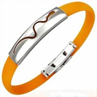 Oranžový gumový náramok - vlniaci sa had