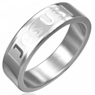 Prsteň z chirurgickej ocele - JESUS - Veľkosť: 51 mm