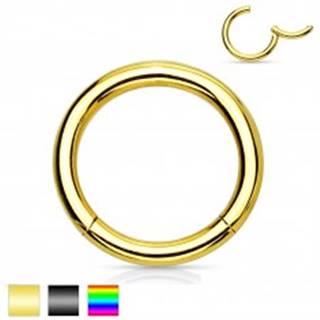Piercing do nosa a ucha, chirurgická oceľ, jednoduchý lesklý krúžok, 2 mm - Farba piercing: Čierna