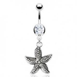 Vintage piercing do pupka - morská hviezdica