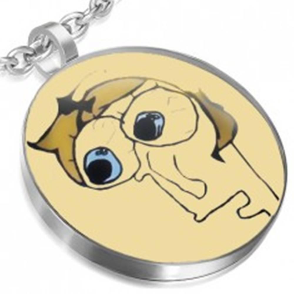 Šperky eshop MEME prívesok z ocele - LIVID FACE s vypúlenými očami