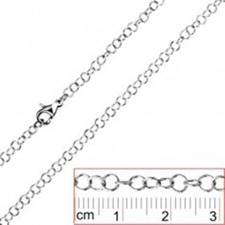 Oceľová retiazka - jednoduché okrúhle očká - Hrúbka: 0,6 mm