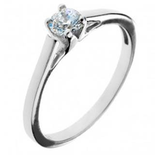 Zásnubný prsteň zo striebra 925 - okrúhly zirkón v kalichu - Veľkosť: 50 mm