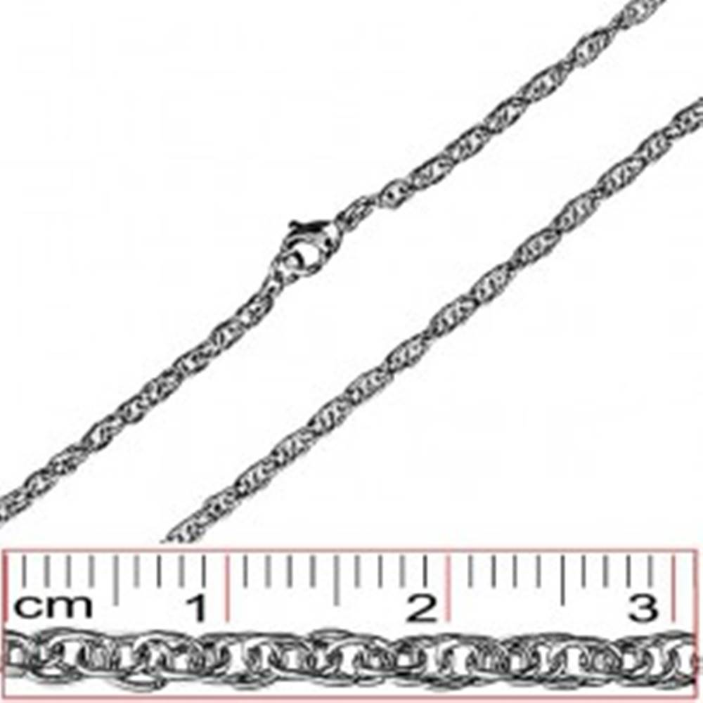Šperky eshop Oceľová retiazka - husto prepletené oválne očká