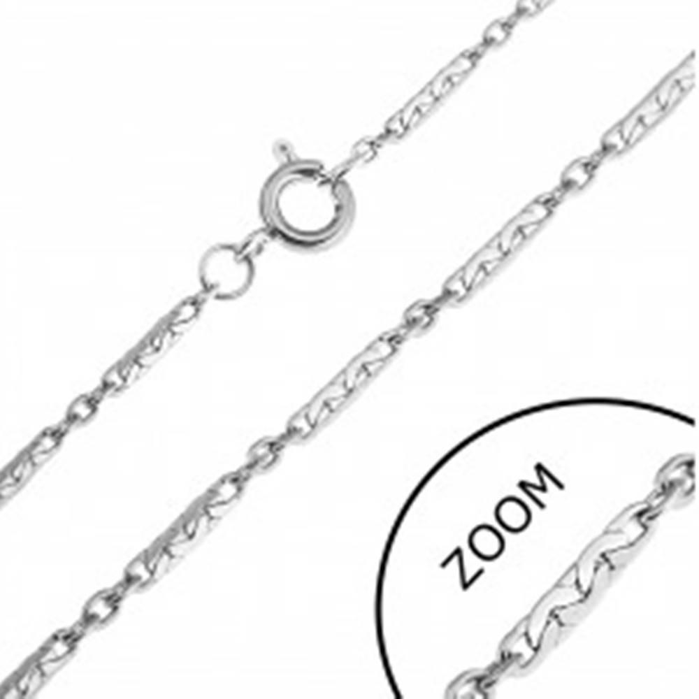 Šperky eshop Oceľová retiazka - tesne spojené paličky a krúžky