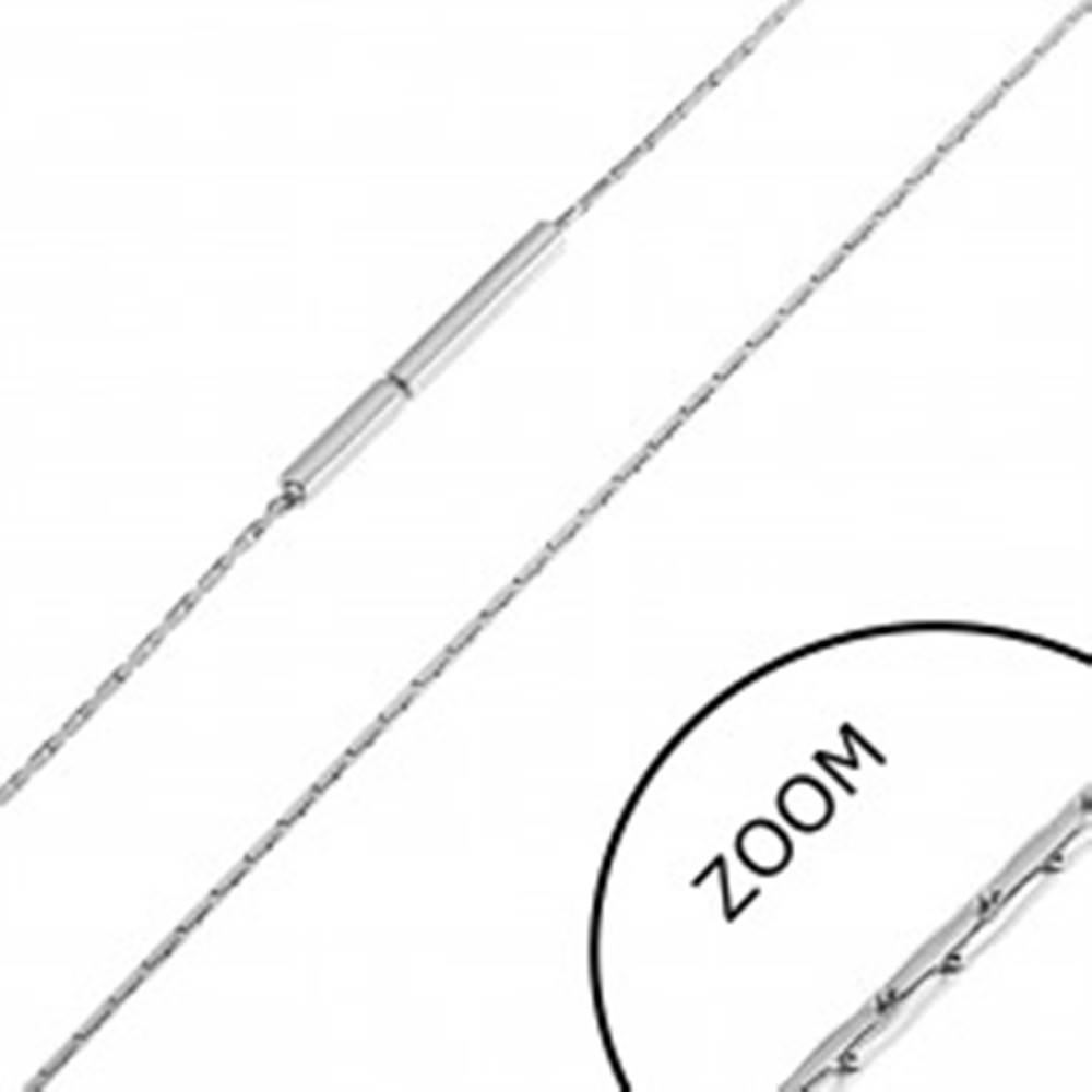 Šperky eshop Oceľová retiazka z tenkých paličiek, 0,8 mm