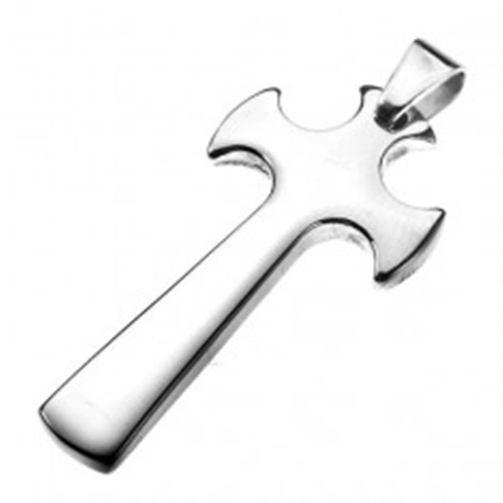 Šperky eshop Oceľový prívesok - kríž s rozšírenými cípmi