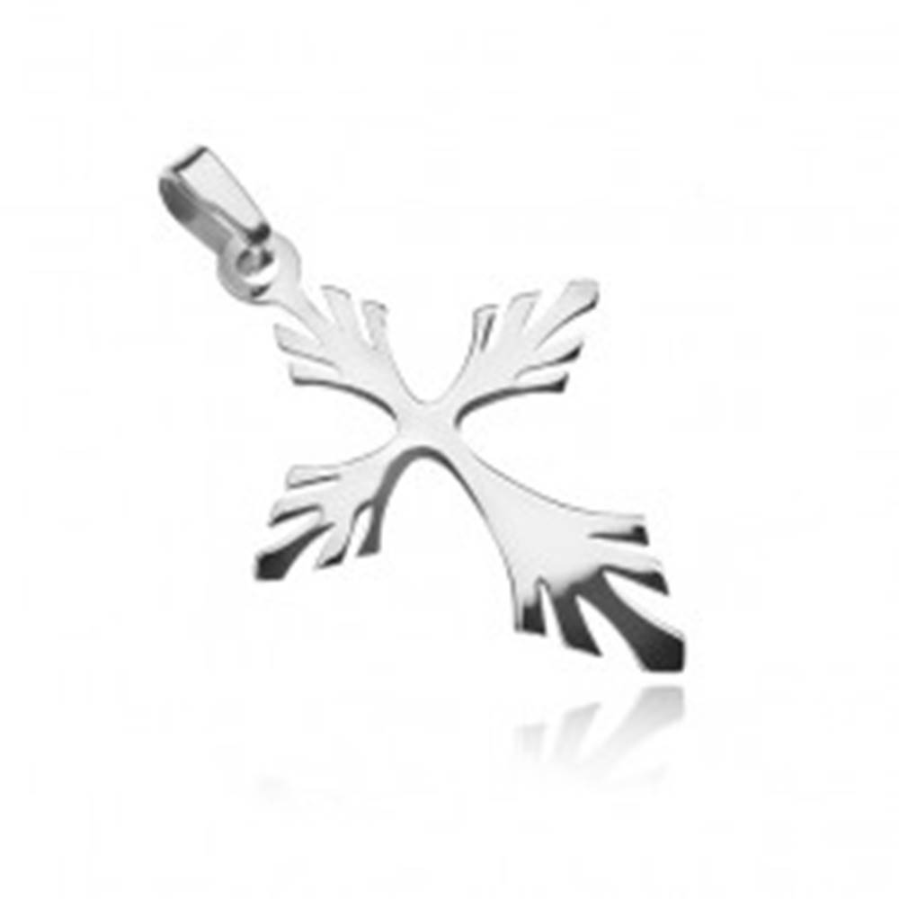 Šperky eshop Strieborný prívesok 925 - rozvetvený krížik