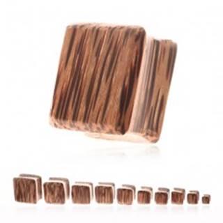 Plug do ucha - kokosové drevo v tvare štvorca - Hrúbka: 10 mm