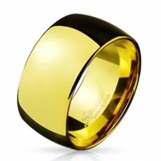 Širšia oceľová obrúčka v zlatom farebnom prevedení, 11 mm - Veľkosť: 59 mm