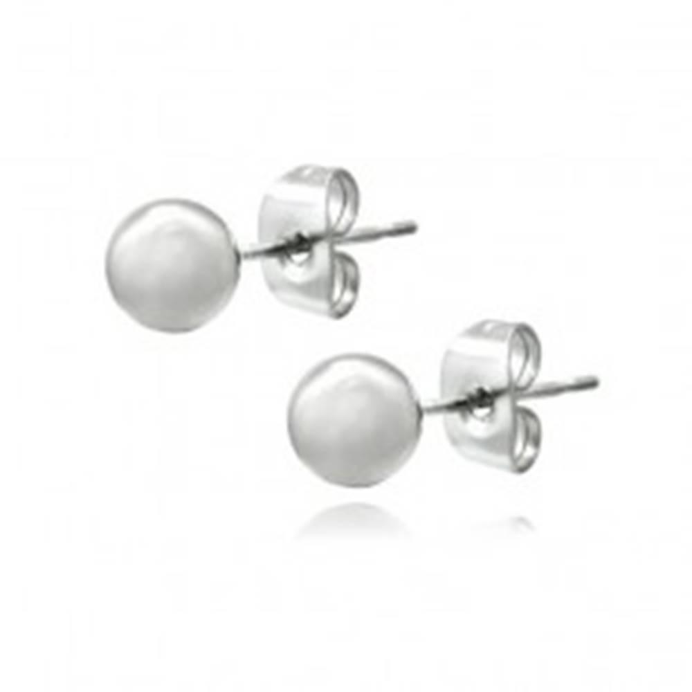 Šperky eshop Náušnice zo striebra 925 - puzetky s lesklou guľôčkou, 4 mm