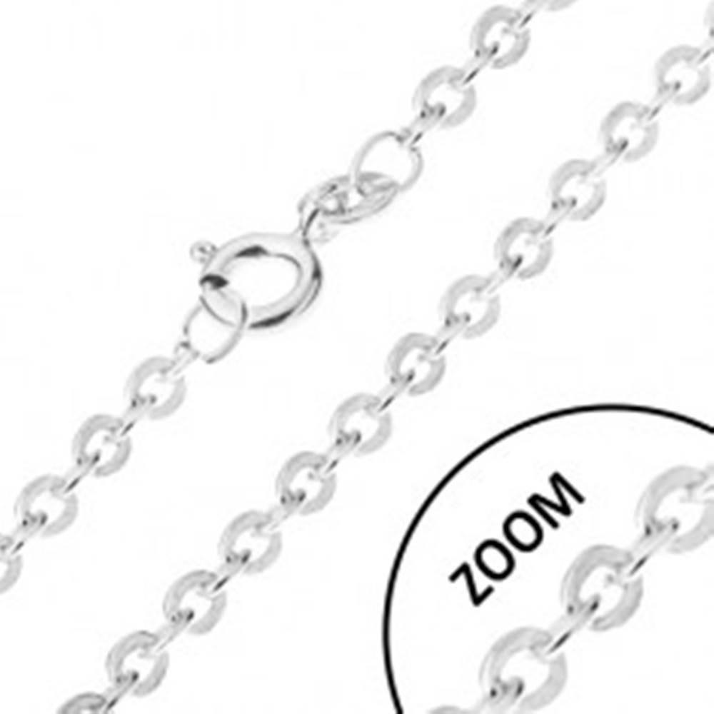 Šperky eshop Retiazka s kolmo napájanými očkami zo striebra 925, šírka 1,2 mm, dĺžka 460 mm