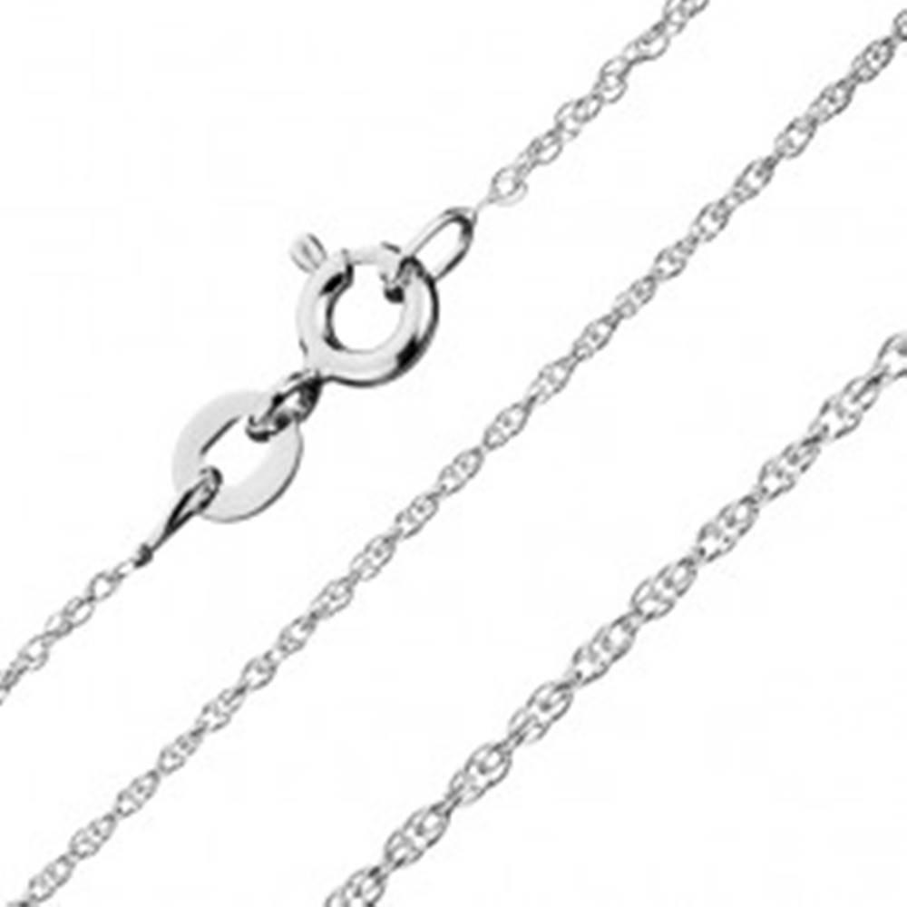 Šperky eshop Retiazka zo striebra 925 - zatočená línia malých očiek, 1 mm