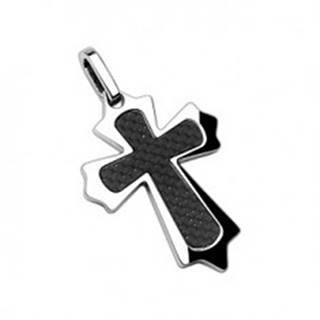Prívesok z chirurgickej ocele kríž s vláknami a ostrými hranami