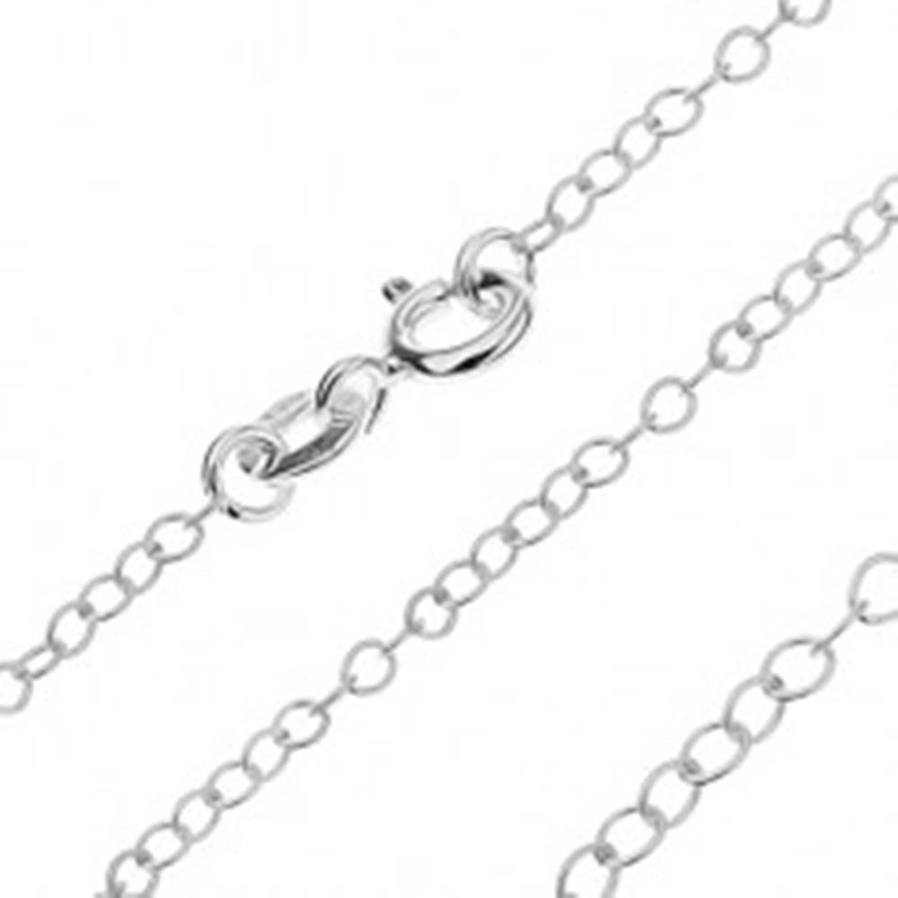 Šperky eshop Retiazka zo striebra 925 - jednoduché lesklé očká, 1,7 mm