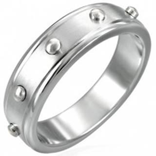 Prsteň z chirurgickej ocele - vypuklé valčeky - Veľkosť: 51 mm