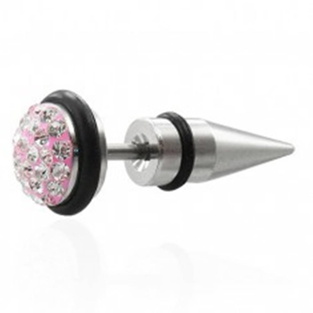 Šperky eshop Falošný expander ružový so zirkónmi