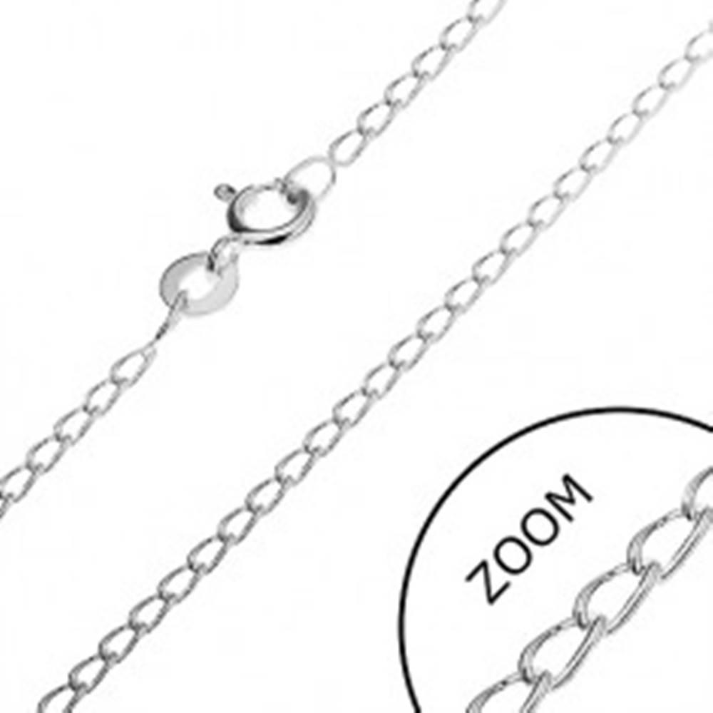 Šperky eshop Retiazka zo striebra 925 - oblé podlhovasté očká, 1,7 mm