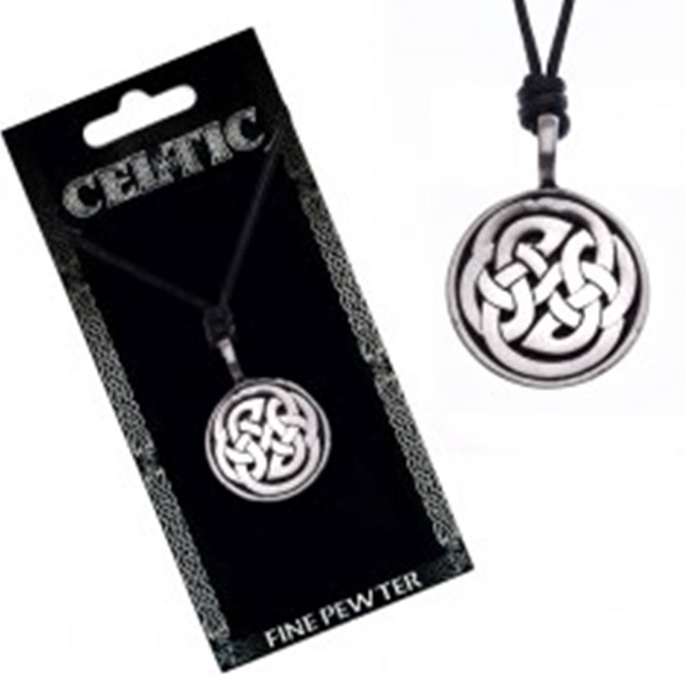 Šperky eshop Náhrdelník s príveskom, čierny, keltské uzly