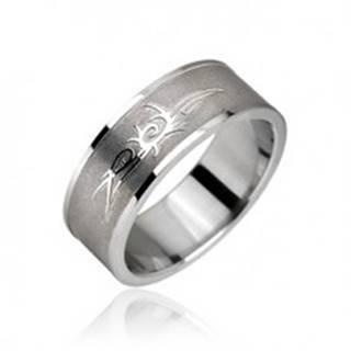 Prsteň z chirurgickej ocele - Tribal symbol, ornament - Veľkosť: 48 mm