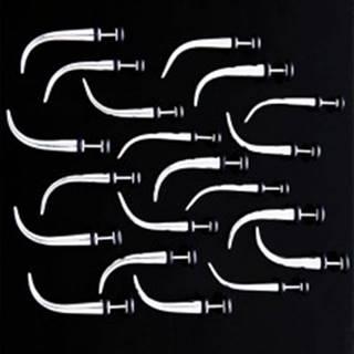 Falošný oceľový expander s gumičkami - zakrivený - Hlavička: 3 mm