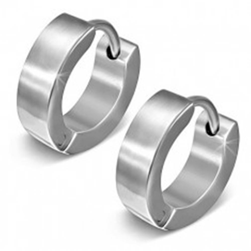 Šperky eshop Kĺbové náušnice z ocele 316L, strieborná farba, zrkadlový lesk