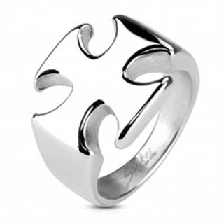Masívny prsteň z chirurgickej ocele, hladký lesklý maltézsky kríž - Veľkosť: 59 mm