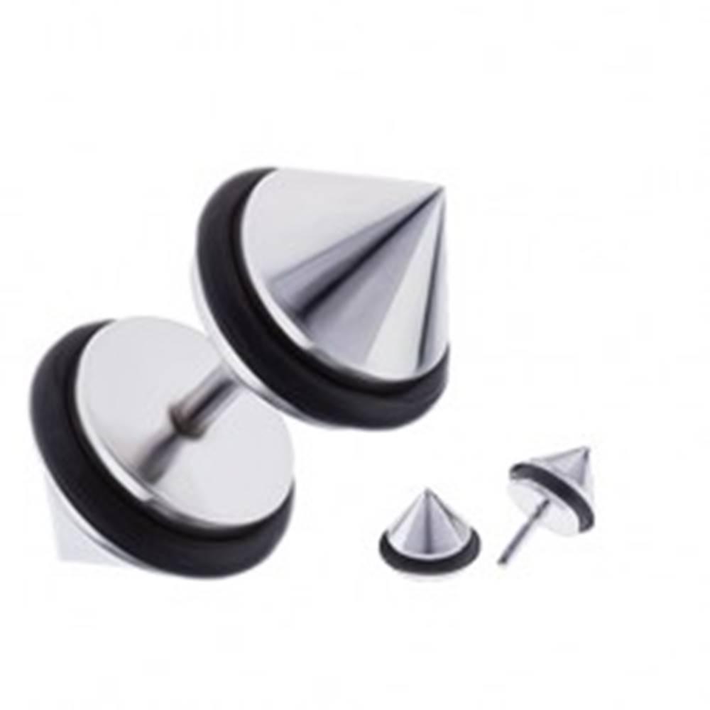 Šperky eshop Kužeľový fake plug do ucha z chirurgickej ocele