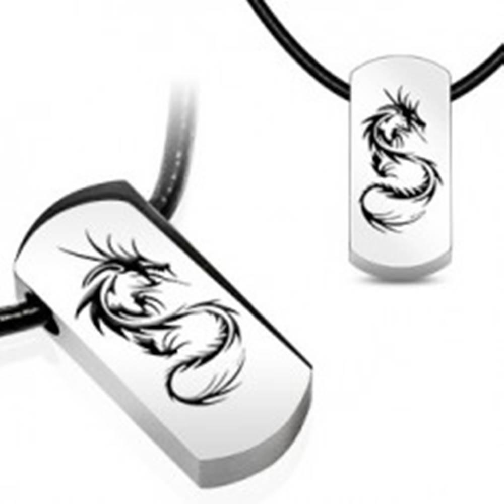 Šperky eshop Náhrdelník - oceľový prívesok, čínsky drak