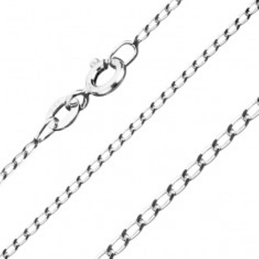 Šperky eshop Strieborná retiazka 925, hladké oválne očká, 1,3 mm