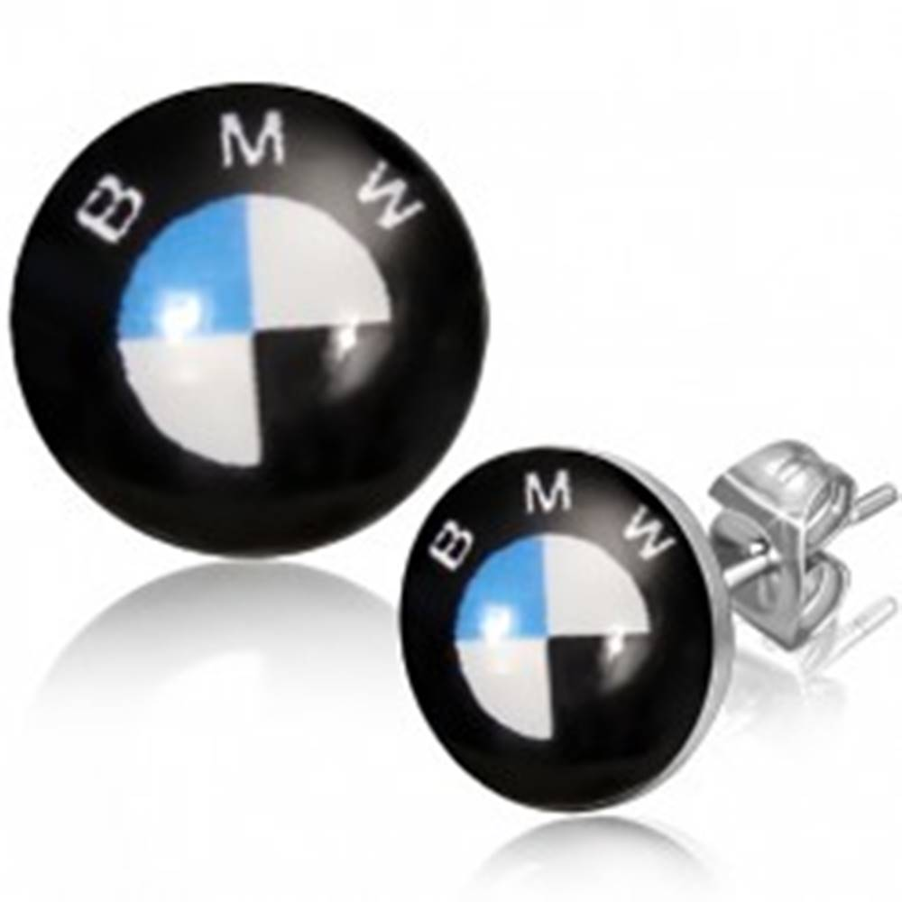 Šperky eshop Puzetkové oceľové náušnice - logo automobilovej značky