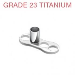 Podstavec pod piercing implantát z titánu 3 dierky