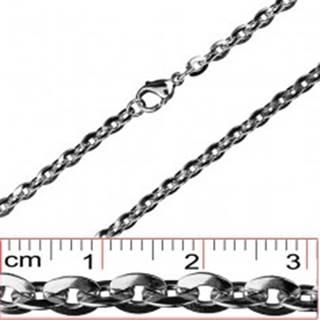 Retiazka z ocele - sploštené oválne očká, 4,5 mm