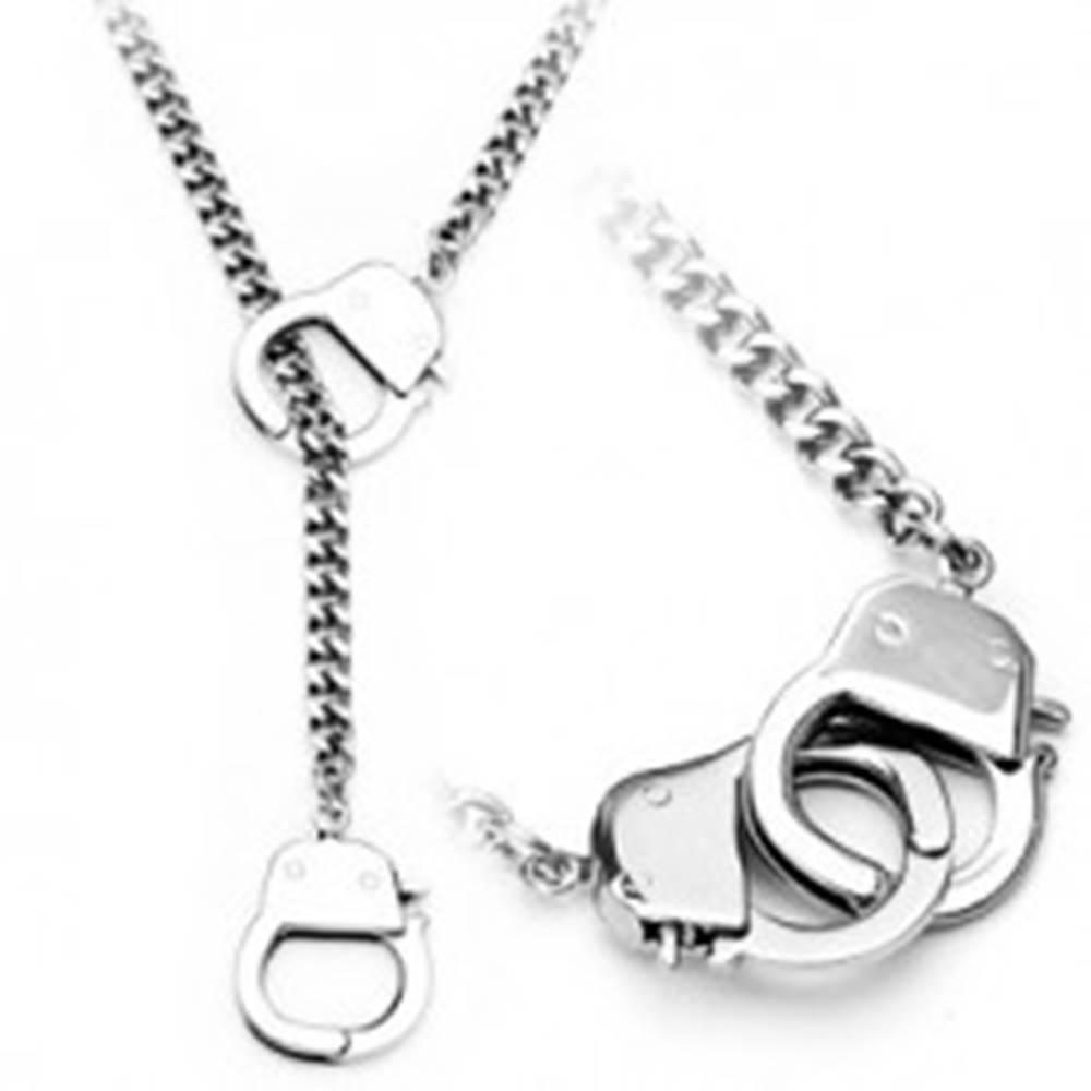 Šperky eshop Retiazka z chirurgickej ocele, strieborná farba, malé putá